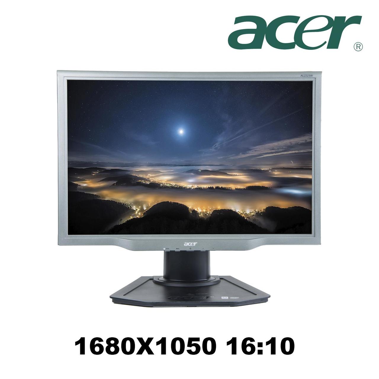 """Монитор Acer AL2223W/ 22"""" / 1680х1050 / DVI-D, VGA (D-Sub) /встроенные колонки (2*2Вт)"""