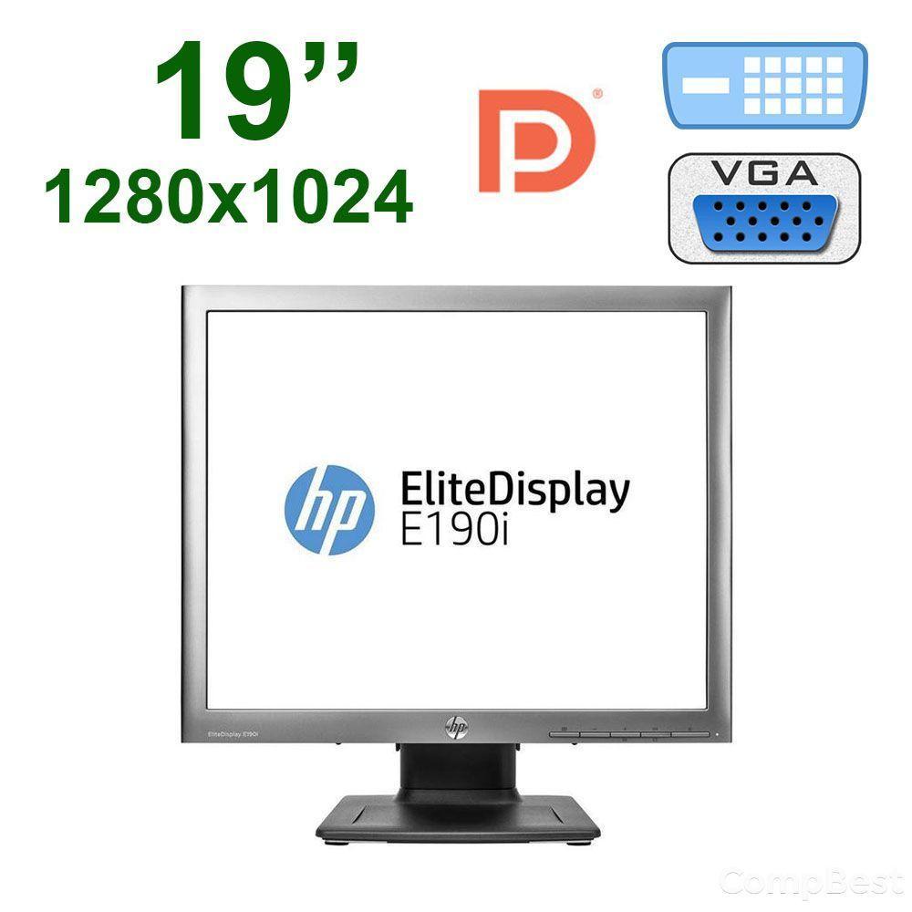 """Монитор HP E190i / 19"""" /  1280x1024 IPS / 2x USB 2.0, USB B, VGA, DVI-D, Display Port"""