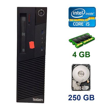 Lenovo ThinkCentre M83 DT / Intel Core i5-4430 (4 ядра по 3.0 - 3.2 GHz) / 4 GB DDR3 / 250 GB HDD / DVD ROM, фото 2