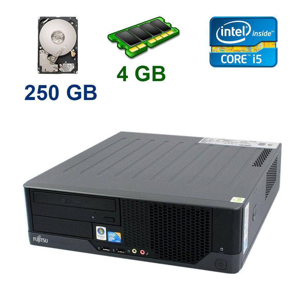 Системный блок Fujitsu Esprimo E9900 Desktop / Intel Core i5-650 (2 (4) 3.2 - 3.46 GHz) / 4 GB DDR3 / 250 GB