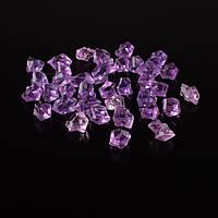 Кристали акрил 1,5x1,5x2,5 см бузково-рожеві 1шт (42101.001)