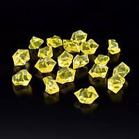 Кристали акрил 1,5x1,5x2,5 см жовті 1шт (42101.010)