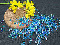 Бисер мелкий №12 Голубая бирюза с перламутром  450 грамм