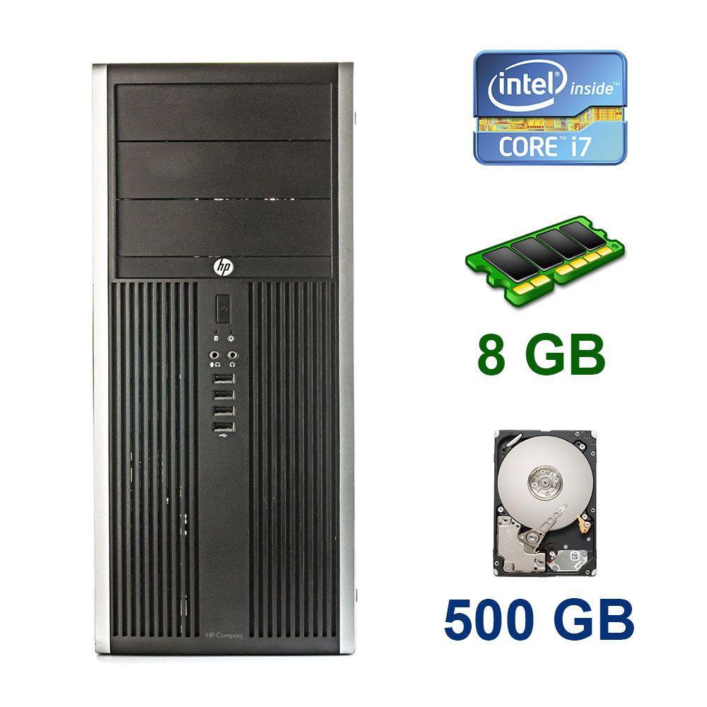 HP Compaq Elite 8300 Tower / Intel Core i7-3770 (4 (8) ядра по 3.4 - 3.9 GHz) / 8 GB DDR3 / 500 GB HDD