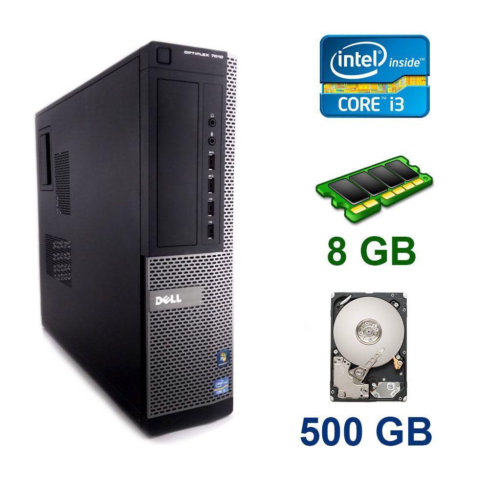 Dell OptiPlex 7010 DT / Intel Core i3-3225 (2 (4) ядра по 3.3 GHz) / 8 GB DDR3 / 500 GB HDD
