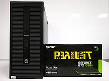 HP EliteDesk 800 G1 Tower / Intel Сore i3-4130 (2 (4) ядра по 3.4 GHz) / 8 GB DDR3 / 120 GB SSD NEW+500 GB HDD / nVidia GeForce GTX 1050 Ti, 4 GB, фото 3