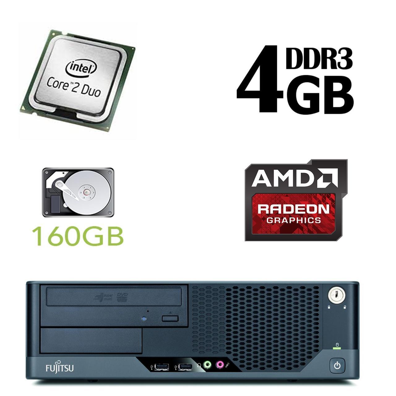 Fujitsu Esprimo E5731 SFF / Intel Core 2 Duo E7500 (2 ядра по 2.93GHz) / 4GB DDR3 / 160GB HDD / AMD Radeon HD 7570 1 GB GDDR5 128 bit