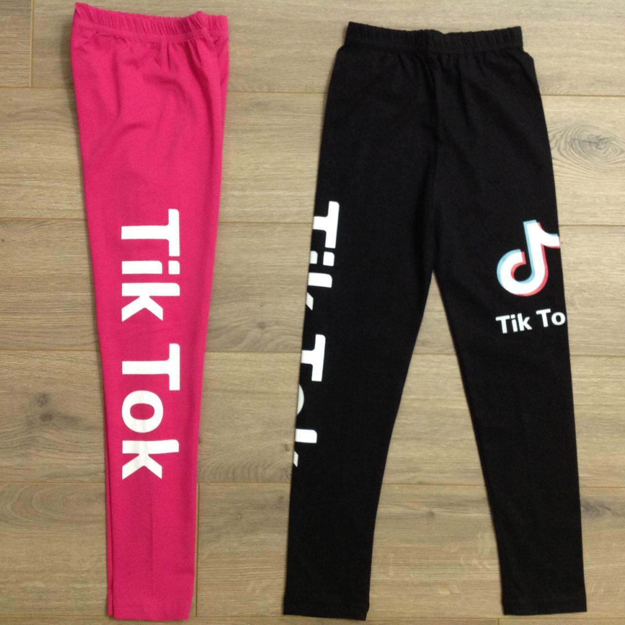 """Лосины подростковые """"Tik Tok"""". Размеры 140-146-152-158-164 см. Черные. Оптом"""