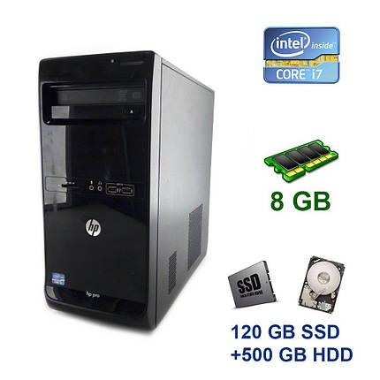 HP Pro 3500 Tower / Intel Core i7-3770 (4 (8) ядра по 3.4 - 3.9 GHz) / 8 GB DDR3 / 120 GB SSD+500 GB HDD, фото 2