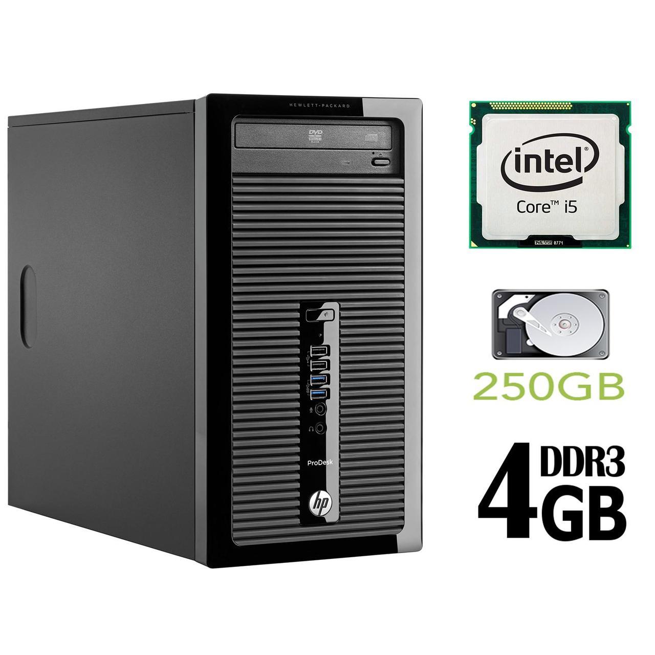HP 400 G1 MT / Intel Core i5-4570 (4 ядра по 3.2GHz) / 4GB DDR3 / 250GB HDD