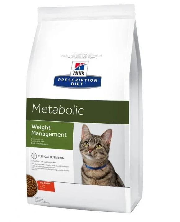 Хиллс Hills PD Feline Metabolic быстрый метаболизм, корм для кошек при ожирении, лишнем весе, 4 кг