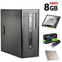 HP 600 G1 Tower / Intel Core i5-4570 (4 ядра по 3.2GHz) / 8GB DDR3 / NEW 120GB SSD + 500GB HDD / nVidia