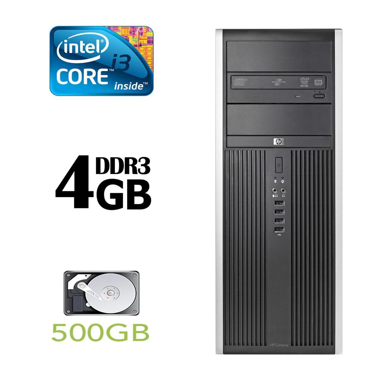 Компьютер HP 8300 Tower / Intel Core i3-3220 (2(4) ядра по 3.3GHz) / 4GB DDR3 / 500GB HDD