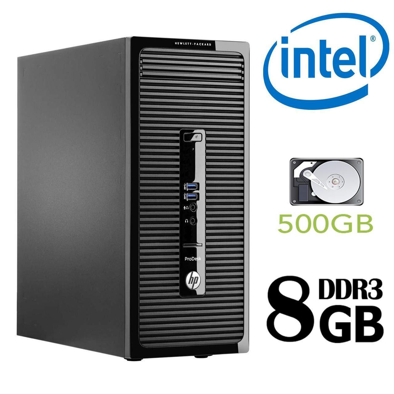 HP 400 G2 MT / Intel Pentium G-3250 (2 ядра по 3.2GHz) / 8GB DDR3 / 500GB HDD