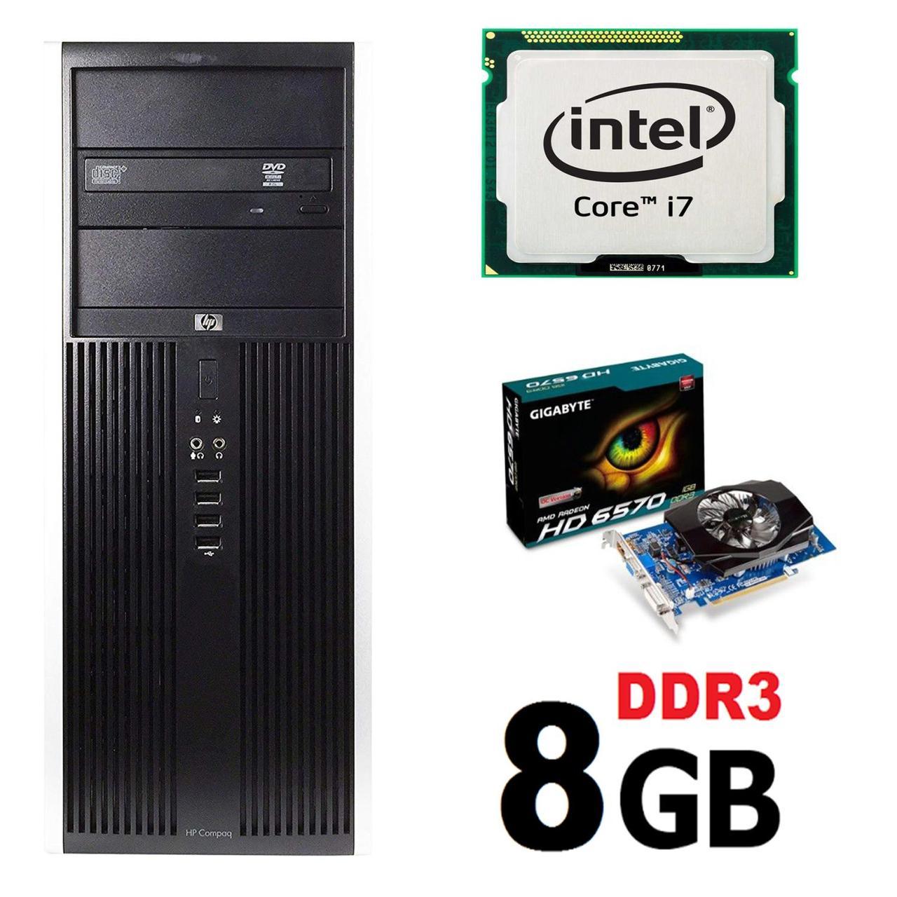 HP 8100 Tower / Intel Core i7-860 (4(8) ядра по 2.8-3.46GHz) / 8GB DDR3 / 1000GB HDD / AMD Radeon HD 6570 2GB 128-bit