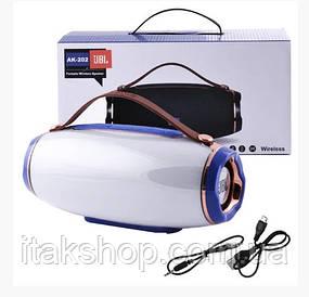 Беспроводная Bluetooth колонка JBL АК-202 МP3 FM цветомузыка (Синий)