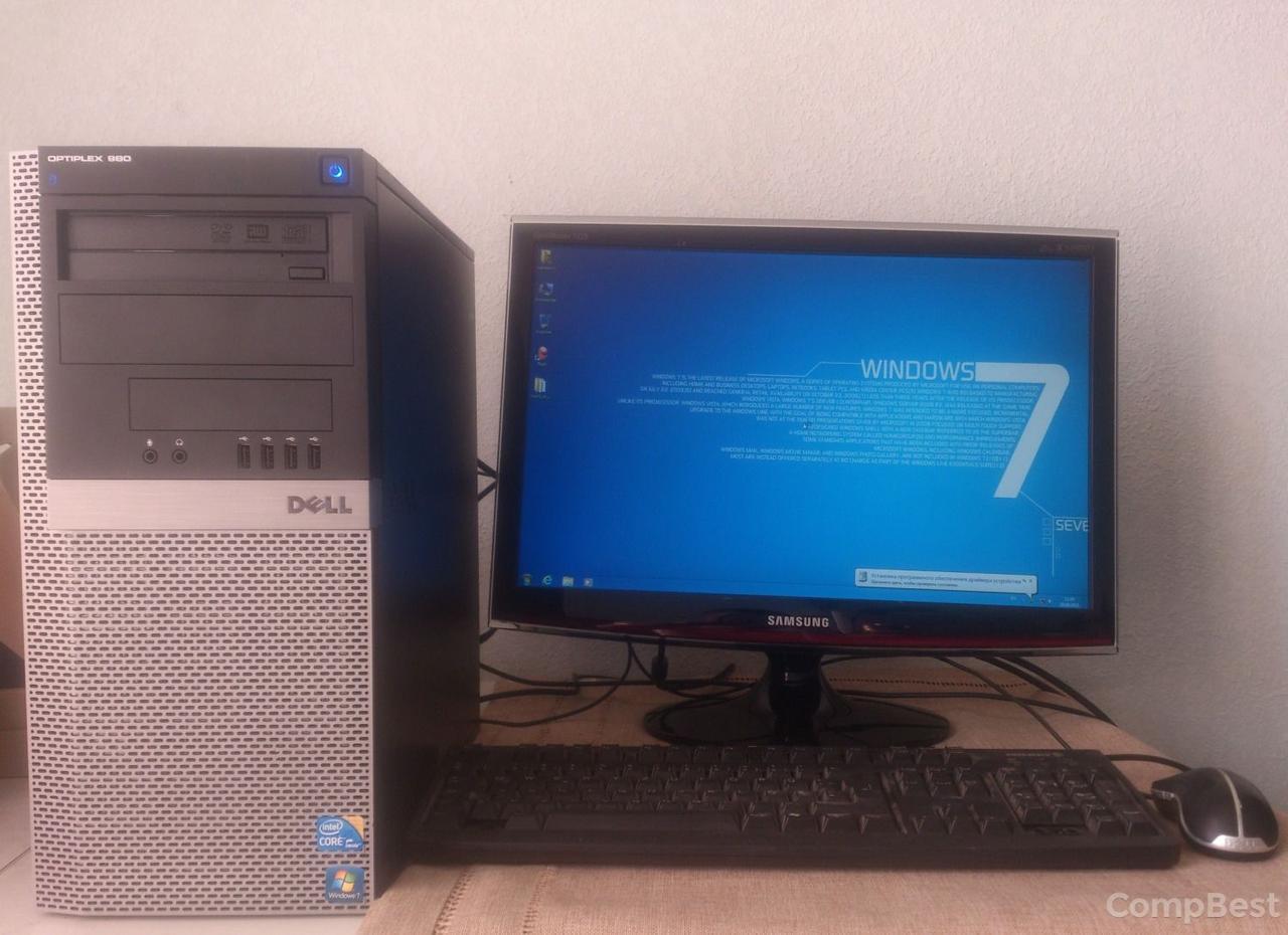 """Dell 980 / Intel Core i5-750 (4 ядра по 3.2GHz) / 6GB DDR3 / 500GB HDD / Radeon HD 7570 1GB GDDR5 128bit + Монитор 22"""" / 1680x1050"""