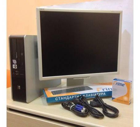HP 7900 sff / Intel Core 2 Duo E8400 (2 ядра по 3.0GHz) / 4GB RAM / 160GB HDD + монитор NEC 2070 / 20' / 1600x1200 + клавиатура, мышка + кабеля, фото 2