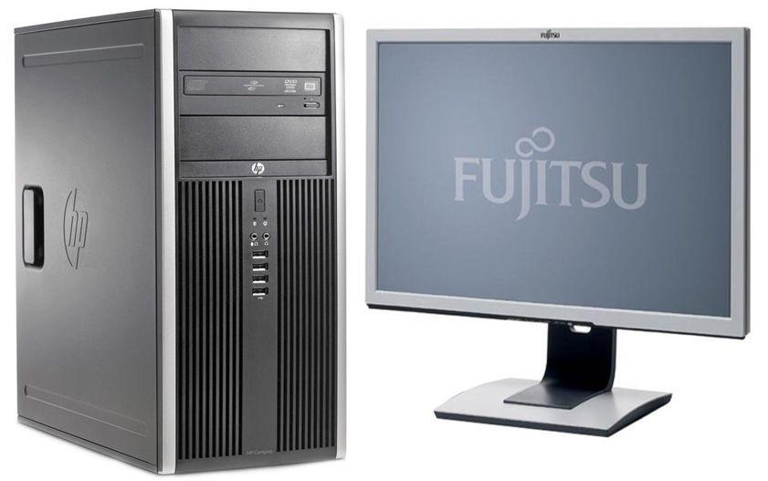 Hewlett-Packard 6200 Pro / Intel Pentium G850 (2 ядра по 2.9GHz) / 4GM DDR3 / 250 GB + наклейка Windows 7 Pro + монитор Fujitsu P22W-5 / 22' /