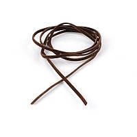 Шнур замшевий коричневий темний (1шт / 1м) ширина 3мм, товщина 1мм (55302.001)