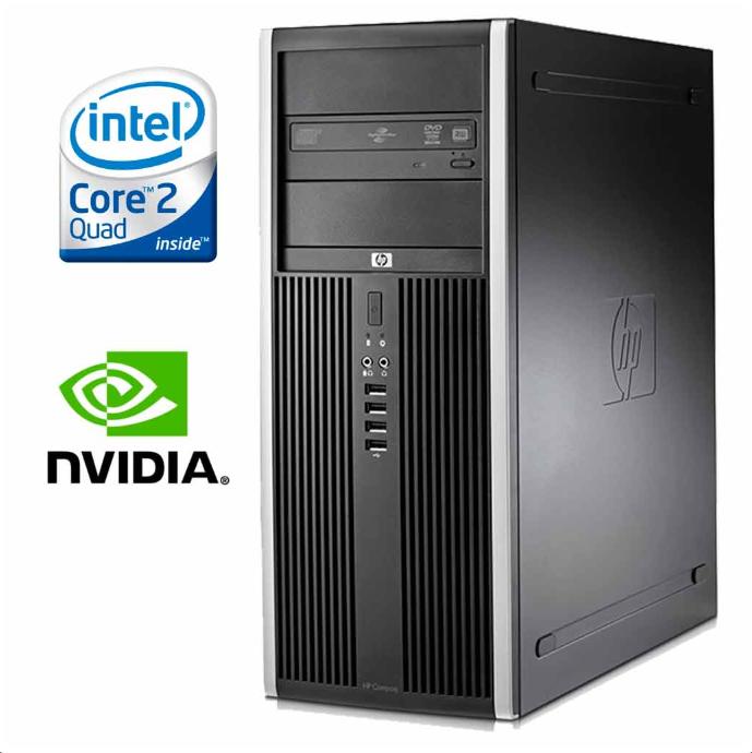 HP Compaq 8000 Elite MT / Intel® Core™2 Quad Q8200 (4 ядра по 2,33 GHz) / 4 GB DDR 3 / 250 Gb / GeForce GTX550 Ti 1 GB DDR5 192 bit
