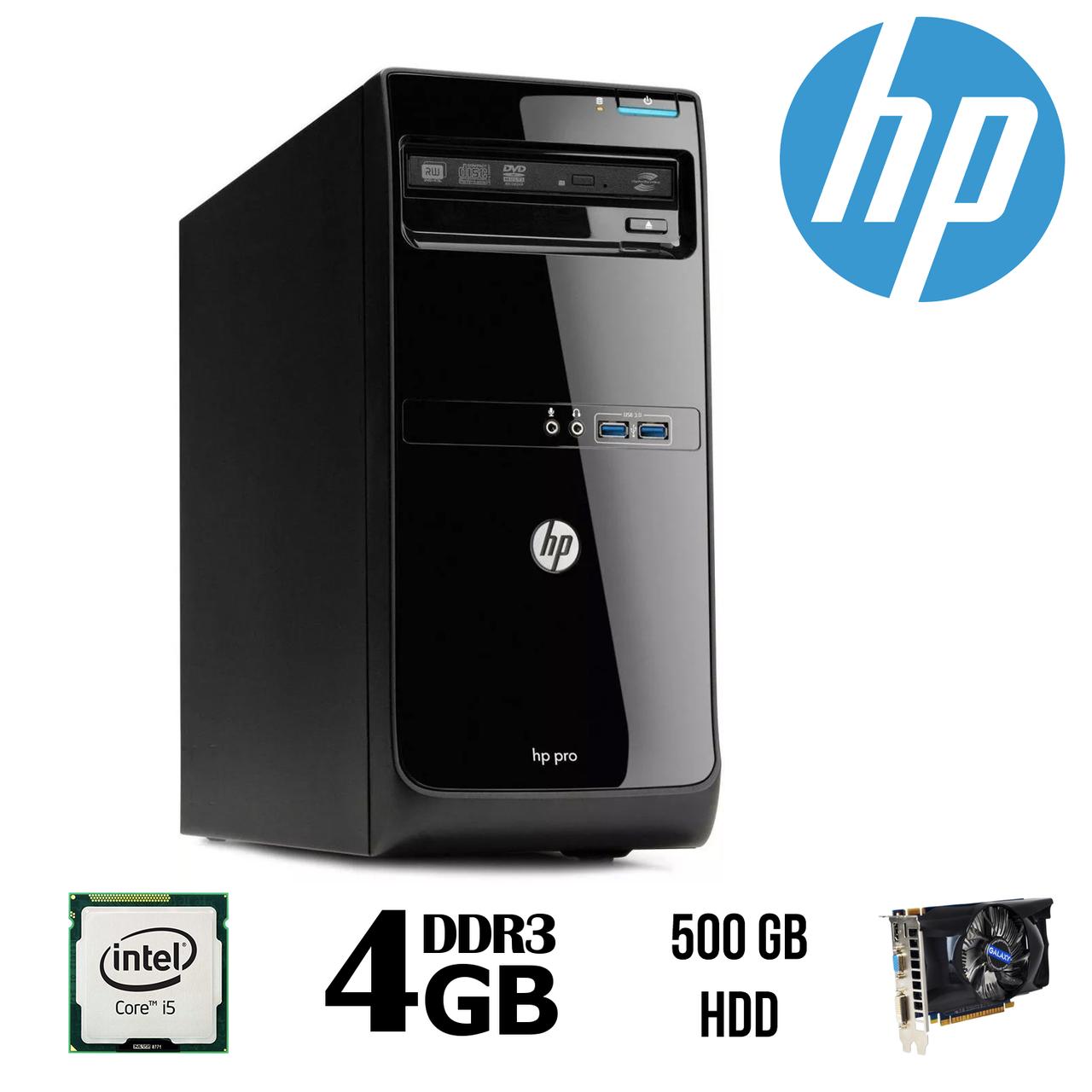 HP Pro 3500 MT / Intel® Core™ i5-3470 (4 (4) ядра по 3.2 - 3.6 GHz)/ 4 GB DDR 3 / 500 GB HDD / GeForce GTX550 Ti 1 GB DDR5 192 bit