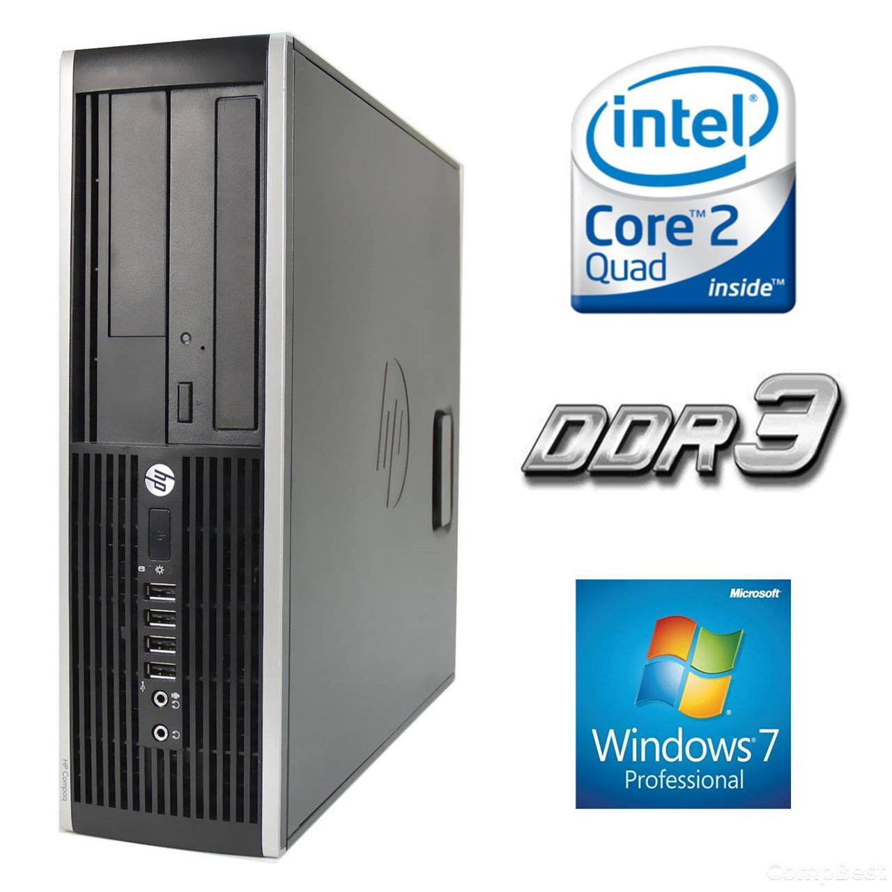HP 6000 Pro SFF / Intel Core 2 Quad Q6600 (4 ядра по 2.4GHz) / 4 GB DDR3 / 160 GB HDD, 4, 160 HDD