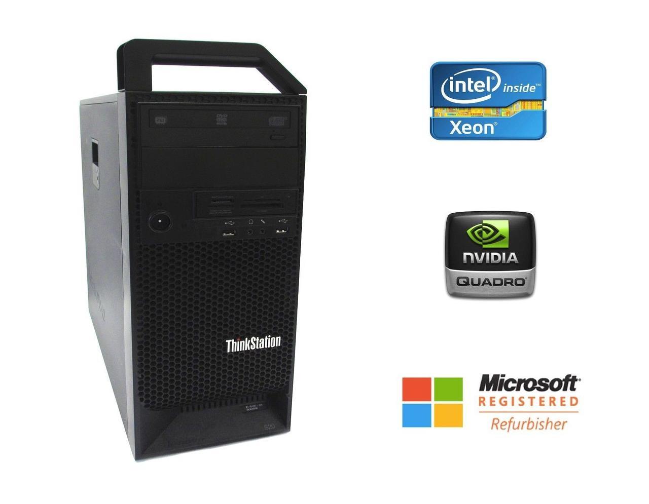 Lenovo ThinkStation D20 Workstation / 2x Intel Xeon E5620 / 8 ГБ ddr3 / 250 ГБ hdd / Nvidia Quadro 2000 / 1030 Вт