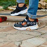 Кроссовки детские Violeta 200-118K black-orange, фото 2