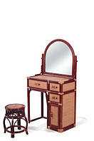 Туалетный столик из ротанга+табурет, фото 1