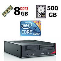 Fujitsu-Siemens Esprimo E420 E85+ SFF / Intel® Core™ i7-4770 (4 (8) ядра по 3.40 - 3.90 GHz)  / 8 GB DDR3 / 500 GB HDD / Intel HD Graphics 4600