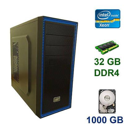 Midi-Tower / Intel Xeon E5-1650 v3 (6 (12) ядер по 3.5 - 3.8 GHz) / 32 GB DDR4 / 1000 GB HDD / 650W, фото 2