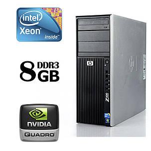 HP Z400 Workstation Tower / Intel® Xeon® W3520 (4 (8) ядра по 2.66 - 2.93 GHz) / 8 GB DDR3 ECC / 250 GB HDD /, фото 2