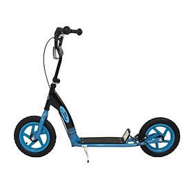 Самокат с большими колесами Nils Extreme черно/синий