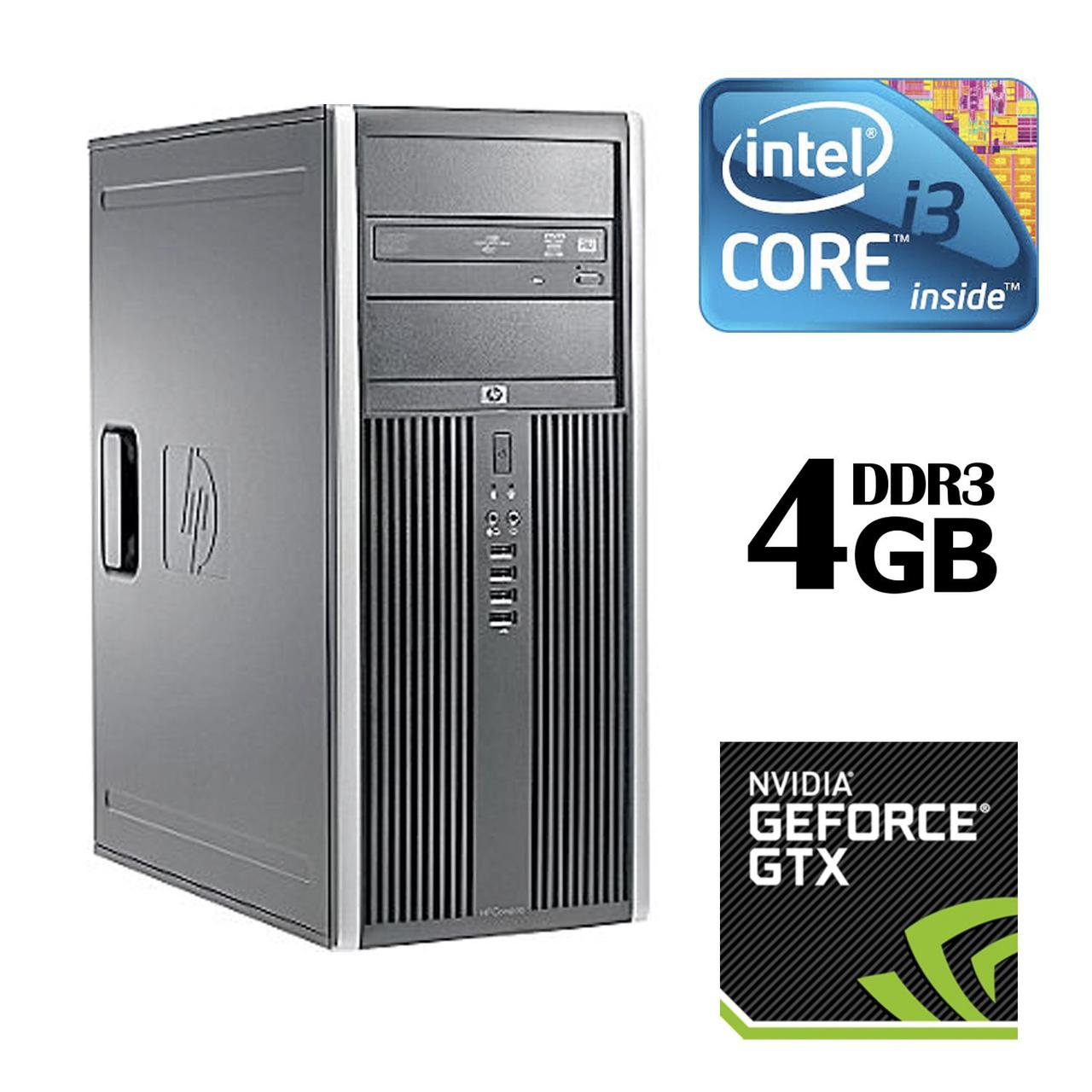 HP Compaq 8100 Elite Tower / Intel® Core™ i3-530 (2 (4) ядра по 2.93 GHz) / 4GB DDR3 / 320GB HDD / nVidia GeForce GTX 550 Ti 1GB (2xDVI, miniHDMI)