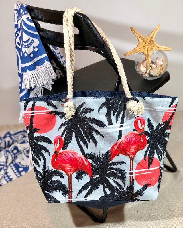 Пляжна сумка жіноча Фламінго