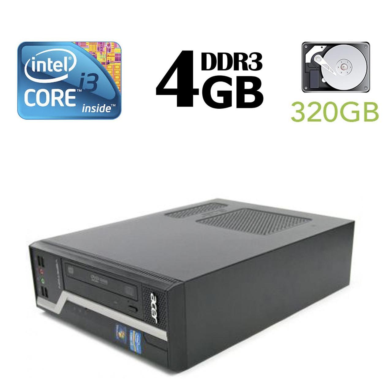 Acer Veriton X4610G SFF / Intel® Core™ i3-2120 (2 (4) ядра по 3.30 GHz) / 4 GB DDR3 / 320 GB HDD
