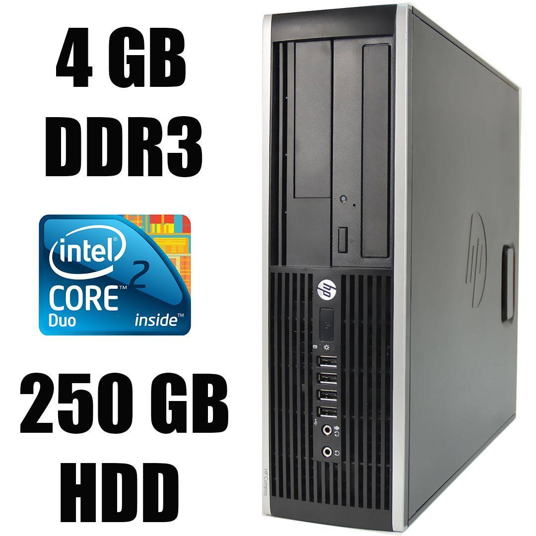 HP 6000 SFF / Intel Core 2 Duo E8400 (2 ядра по 3.0 GHz) / 4 GB DDR3 / 250 GB HDD