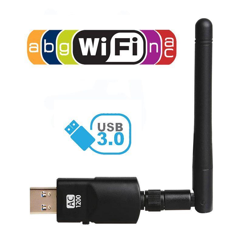 Мощный беспроводной Wi-Fi адаптер 1200Mpbs! / 802.11 a, b, g, n, ac / 2.4GHz+5GHz / USB 3.0