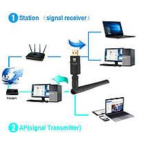 Мощный беспроводной Wi-Fi адаптер 1200Mpbs! / 802.11 a, b, g, n, ac / 2.4GHz+5GHz / USB 3.0, фото 2