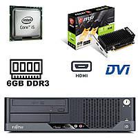 Fujitsu e9900 SFF/ Intel Core i5-650 (2(4) ядра по 3.2-3.46GHz) / 6 GB DDR3 / 250 GВ HDD / nvidia GeForce GT 1030 2Gb DDR4 (HDMI/DVI) new