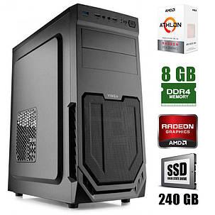 Vinga CS211B / AMD  Athlon™ 200GE (2(4)ядра по 3.2GHz) / 8GB DDR4 / 240GB SSD / 400W, фото 2