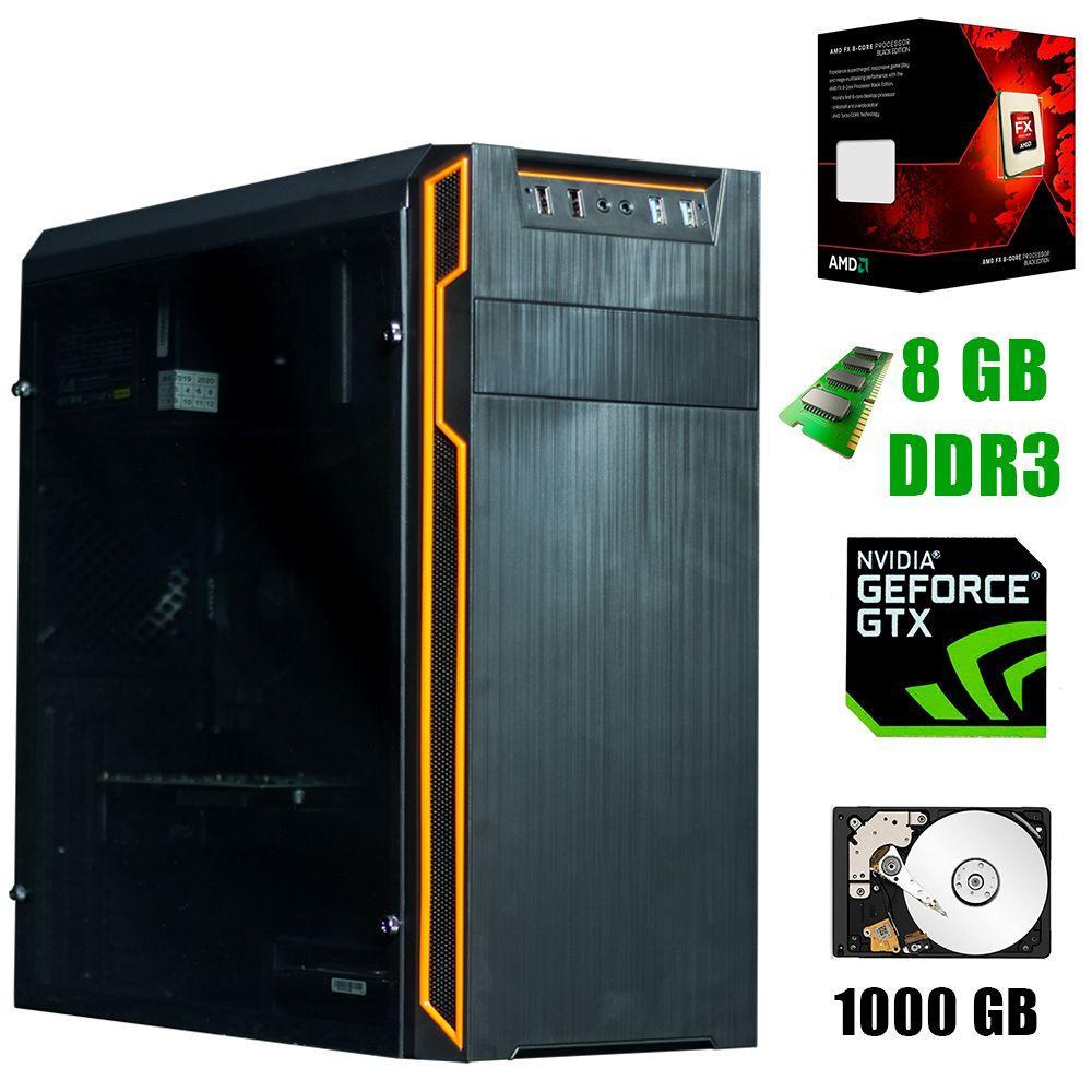 Frontier HAN SOLO orange / AMD FX-8300 (8 ядер по 3.3 - 4.2GHz) / 8GB DDR3 / 1000GB HDD / GeForce GTX 1650 4Gb / 500W