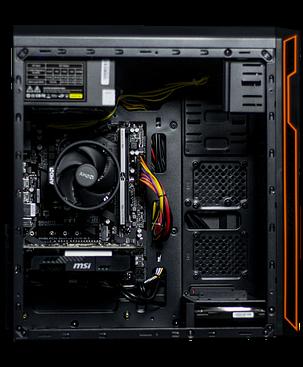 Frontier HAN SOLO orange / AMD FX-8300 (8 ядер по 3.3 - 4.2GHz) / 8GB DDR3 / 1000GB HDD / GeForce GTX 1650 4Gb / 500W, фото 2
