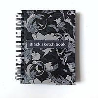 Блокнот (А5) з чорними сторінками (скетчбук на 160 ст )