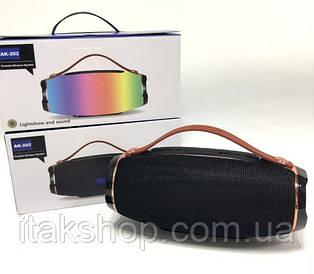 Беспроводная Bluetooth колонка JBL АК-202 МP3 FM цветомузыка (Черный)