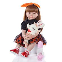 Кукла Keiumi Реборн девочка винил-силикон 60 см D0010