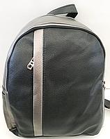 Городские рюкзаки из искусств.кожи +карамн сзади (ЧЕРНЫЙ-БРОНЗА)26*30см