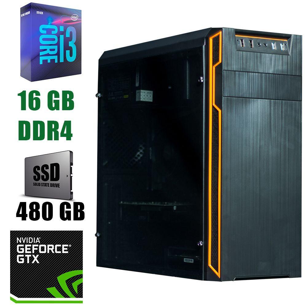 Frontier Han Solo / Intel Core i3-9100 (4 ядра по 3.6 - 4.2GHz) / 16 GB DDR4 / 480 GB SSD / БП 450W / GeForce