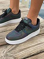 Кроссовки Nike Air Force 1 Low Reflective (Низкие Найк Аир Форс с рефлективными вставками) мужские и женские